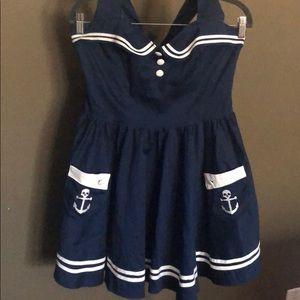 Hell Bunny Vixen Skull Sailor halter dress